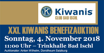 Kiwanis Bad Ischl - XXI Benefizauktion 2018