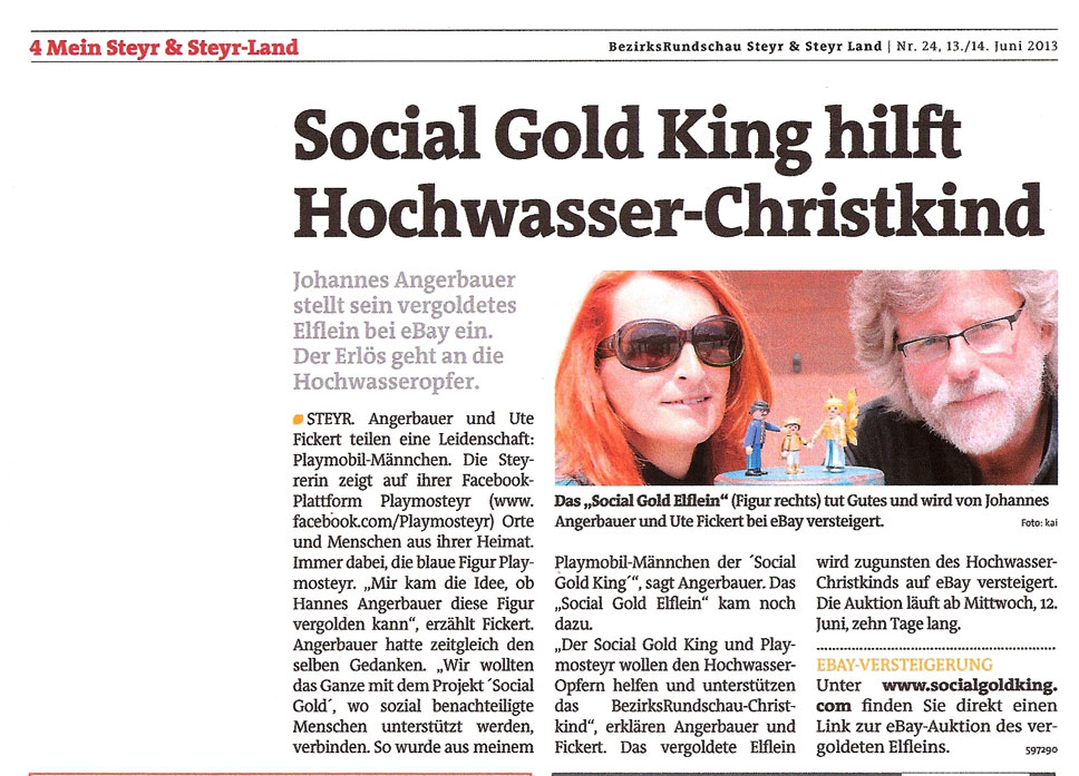 BezirksRundschau Steyr - Social Gold Fee - 2013-06-13